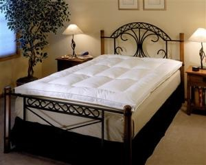 This photo released by beddingsets.com shows Soft-Tex memory foam on a fiber bed.(AP Photo/Beddings.com)